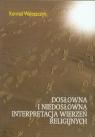 Dosłowna i niedosłowna interpretacja wierzeń religijnych Waloszczyk Konrad