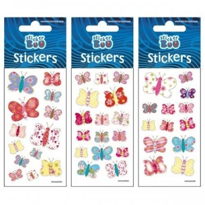 Naklejki Sticker BOO silver - Motyle #3 (382526)