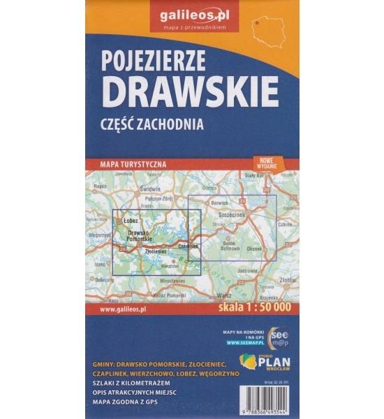 Pojezierze Drawskie część zachodnia, 1:50 000 - mapa turystyczna (02-20-391) Opracowanie zbiorowe