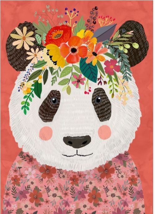Puzzle 1000 elementów Floral Friends, Panda, Mia Charro (29954)