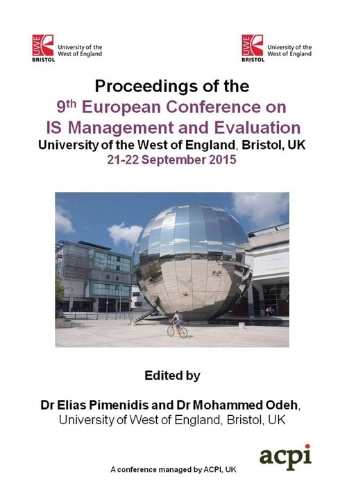 ECIME 2015 - Proceedings of the 9th?European Conference on  IS Management and Evaluation