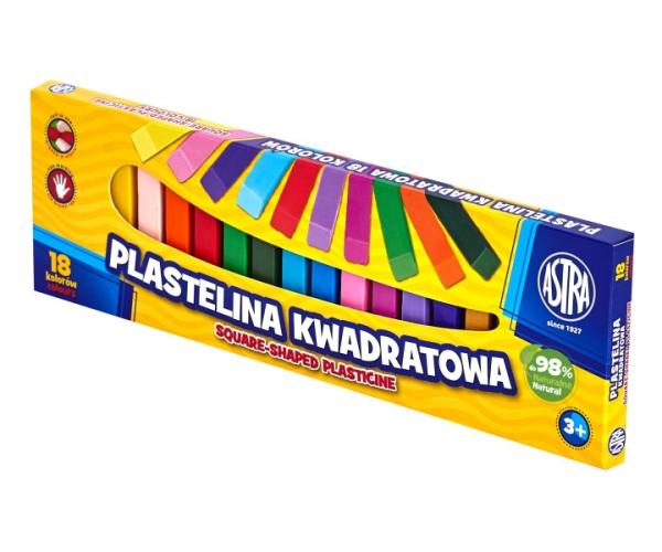 Plastelina Astra kwadratowa 18 kolorów (83814904)