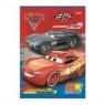 Zeszyt w okładce laminowanej, format A5, 16 kartek, linia dwukolorowa, licencja CARS 3