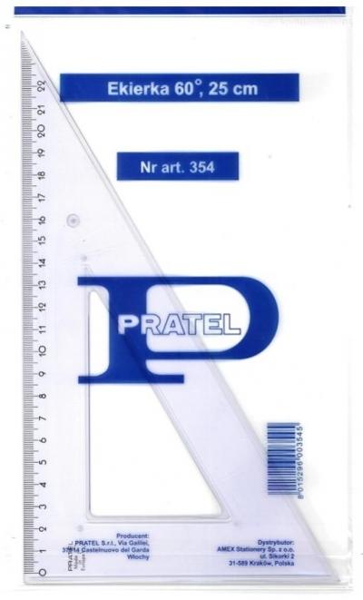 Kątomierz 25cm 60 stopni PRATEL