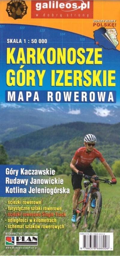 Mapa rowerowa - Karkonosze i góry Izerskie 1:50000 praca zbiorowa