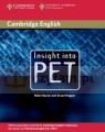 Insight into PET SB Helen Naylor, Stuart Hagger