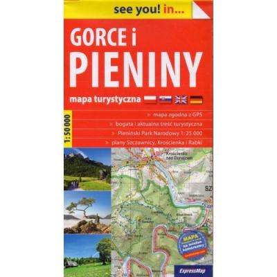 Gorce i Pieniny mapa turystyczna 1:50 000 (papier) , Praca zbiorowa