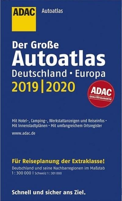 AutoAtlas ADAC. Deutschland, Europa 2019/2020 praca zbiorowa