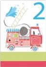 Karnet B6 brokat z kopertą Urodziny 2 chłopiec