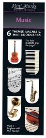 Zakładki magnetyczne Music 6 sztuk