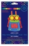 Zestaw kreatywny pacynka z pianki Robot