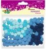 Dodatek dekoracyjny Craft-fun pompony niebieskie (0126BL)