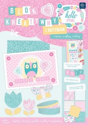 Zestaw kreatywny Interdruk A4 z naklejkami Spring