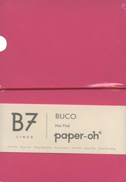 Notatnik B7 Paper-oh Buco Hot Pink w linie