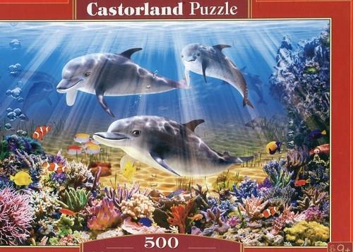 Puzzle 500 Dolphins Underwater (B-52547)