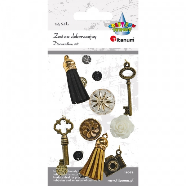 Zestaw dekoracyjny Titanum Craft-fun 12 szt