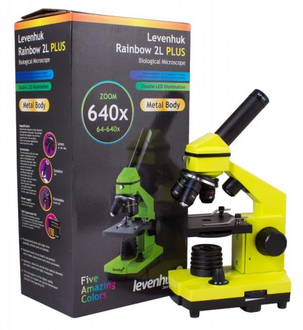 Mikroskop Rainbow 2L plus limonkowy (69120)