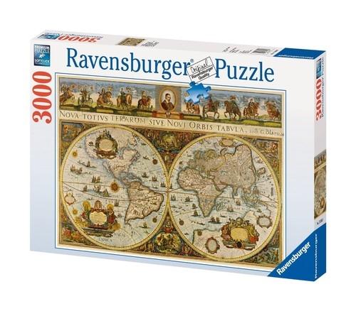Puzzle Wielka Mapa Świata 1665 3000 (170548)