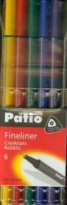 Cienkopis Trio Fineliner 6 kolorów