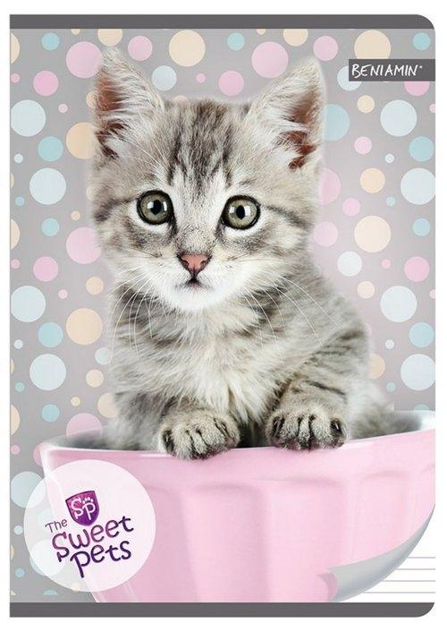 Zeszyt A5 w trzy linie 16 kartek Kot The Sweet Pets