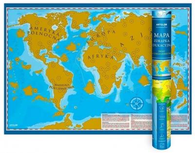Mapa zdrapka - Świat Młodego Odkrywcy praca zbiorowa