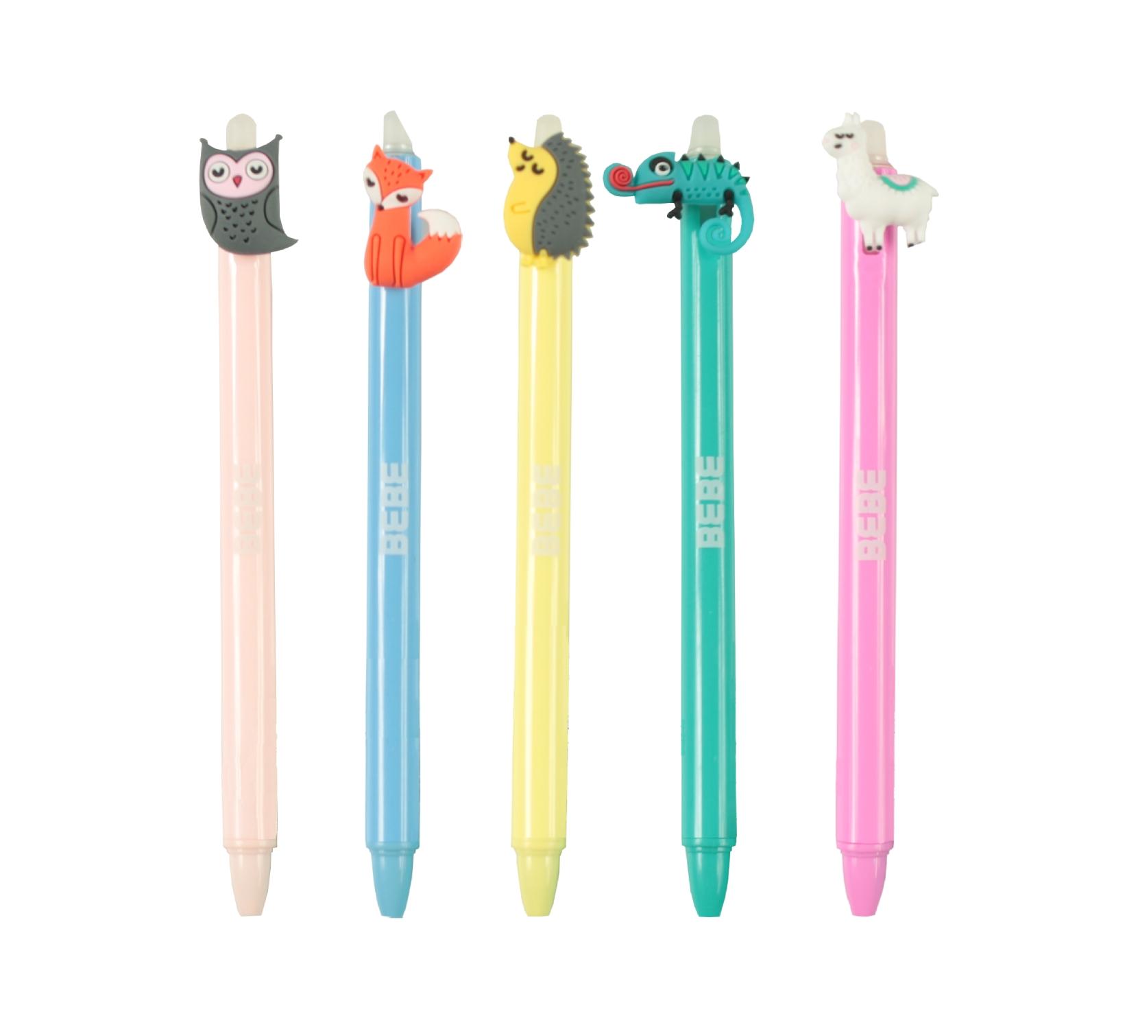 Długopis automatyczny ścieralny B&B niebieski (442879)