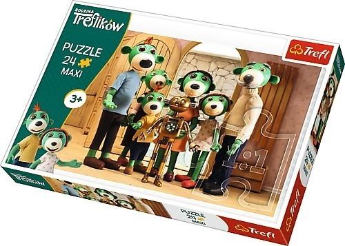 Puzzle 24 Maxi Rodzina Treflików Portret rodzinny z Robobotem (14254)