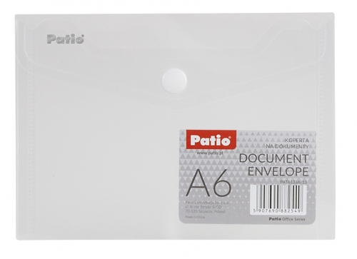 Koperta na dokumenty A6 transparentna - bezbarwna