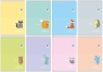 Zeszyt A5 16 kartek kratka B&B Kids pastel