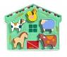 Drewniano-filcowa układanka Zwierzęta z podwórka (DJ01055)