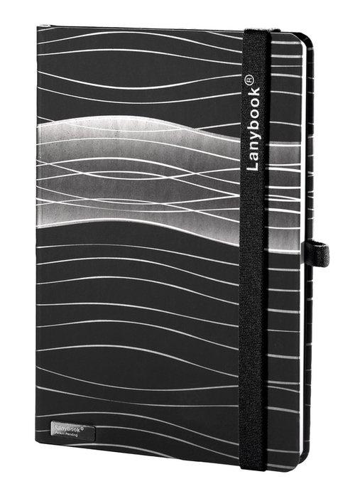 Notes A6 Lanybook Oceanic Refl w kratkę czarny