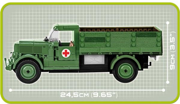 Cobi: Mała Armia WWII. Mercedes-Benz L 3000 S - ciężarówka niemiecka (2455A)