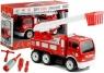 Wóz strażacki do rozkręcania drabina + narzędzia