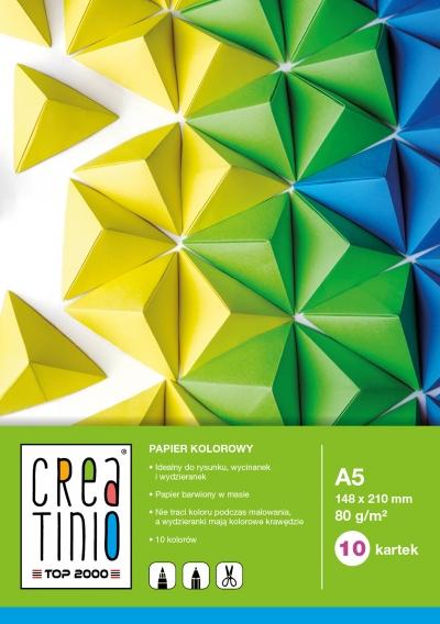 Papier kolorowy Creatinio A5 10 kartek (400079855) Top 2000