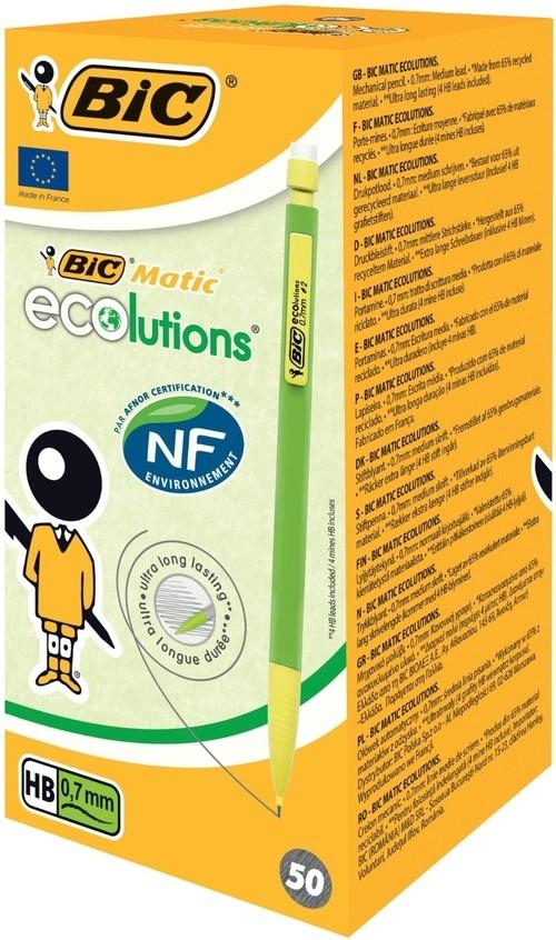 Ołówek Eco Bic Matic 0,7 zielony pudełko 50 sztuk (8877191)