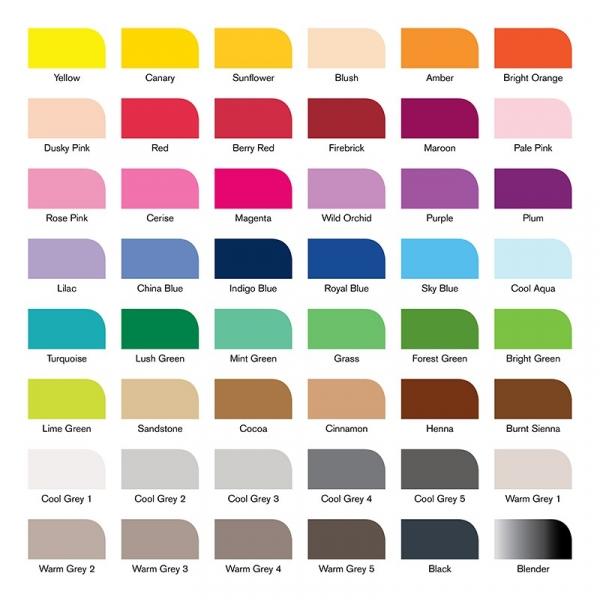 Zestaw promarkerów Brushmarker – Essential Collection, 48 kolorów