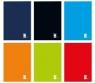 Blok biurowy A5, 100 kartek, linia (364705) mix kolorów
