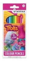 Kredki ołówkowe 12 kolorów Trolls