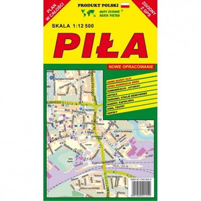 Plan miasta Piła Wydawnictwo Piętka
