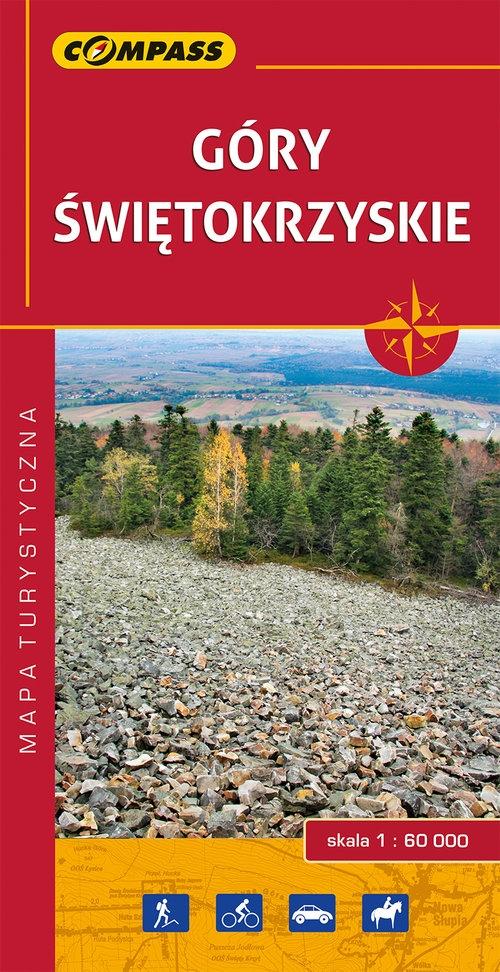 Góry Świętokrzyskie mapa laminowana