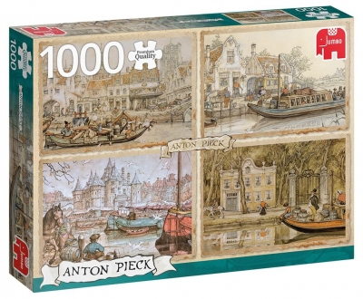 Puzzle 1000 PC Pieck Łodzie kanałowe G3