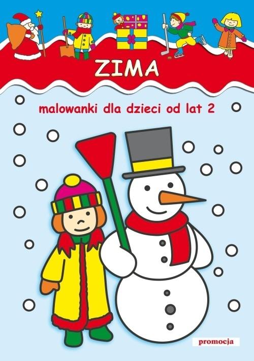 Zima Malowanki dla dzieci od lat 2 (dodruk na życzenie) Jarosław Żukowski