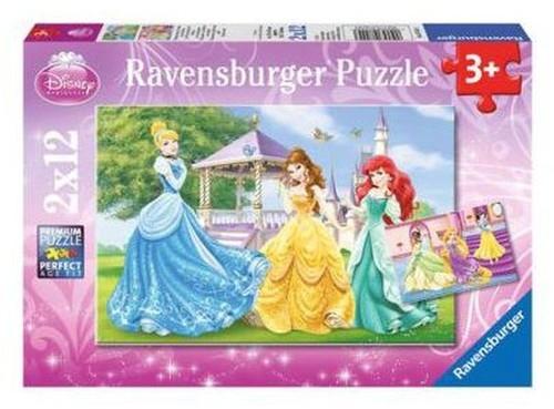 Puzzle Disney Księżniczki w ogrodzie 2X12 (075553)