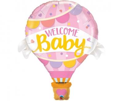 Balon foliowy Godan Welcome Baby Pink Balloon (78656)