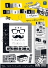 Blok kreatywny A4 z naklejkami B&W