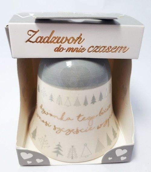 Dzwonek ceramiczny Dzwonka tego bicie wnosi szczęście w życie