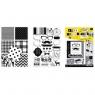 Blok kreatywny A4 z naklejkami B&W (314607)