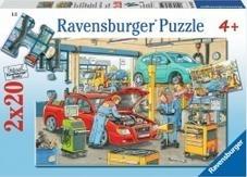 Puzzle 2x24 Warsztat samochodowy i stacja benzynowa (088553) RAP088553