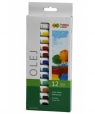 Farby olejne Happy Color, zestaw 12 kolorów (447319)