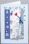 Karnet PM155 wycinany + koperta Drabina Ślub